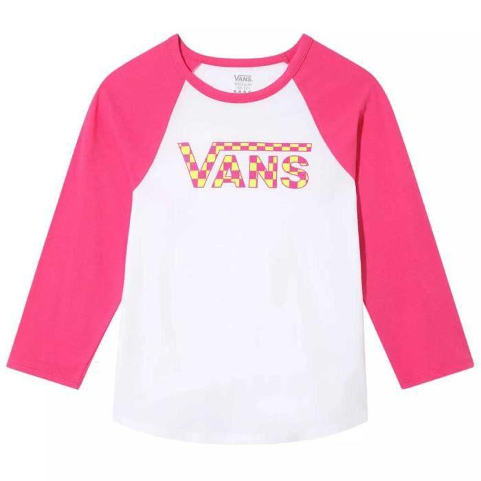 Vêtements fille T-Shirts Vans Check My Shine