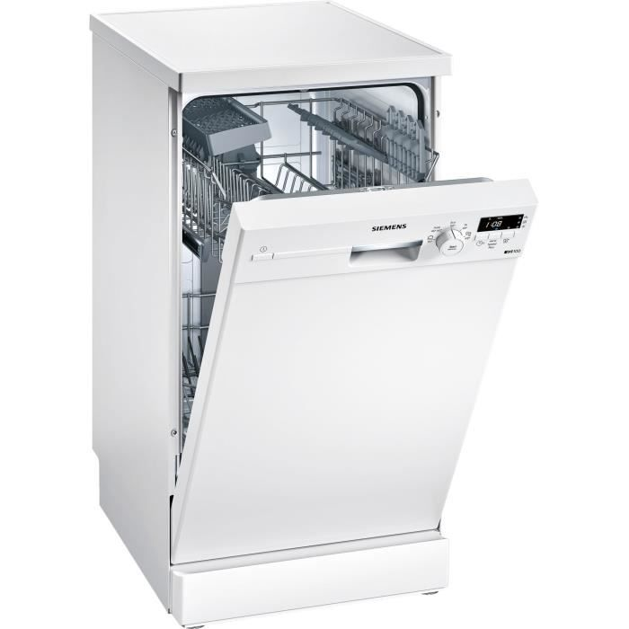 Siemens iQ100 SR215W03CE, Autonome, Blanc, Compact (45 cm), Blanc, boutons, Rotatif, 1,75 m