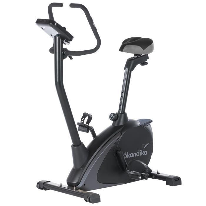 Skandika Vinneren - Vélo d'appartement ergomètre - Inertie 11 kg - 12 Prog - Bluetooth - Contrôle par appli - Support Tablette -