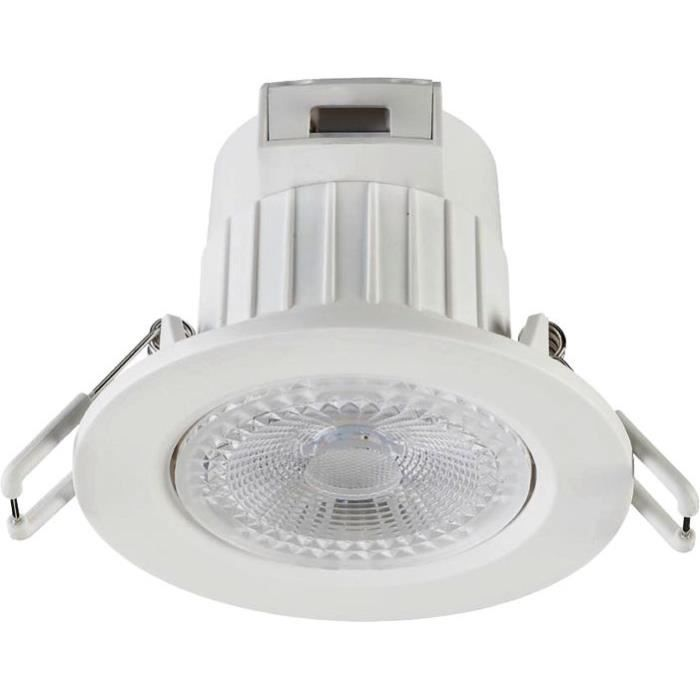 Spot encastrable dimmable IP20 400lm 3000k blanc froid