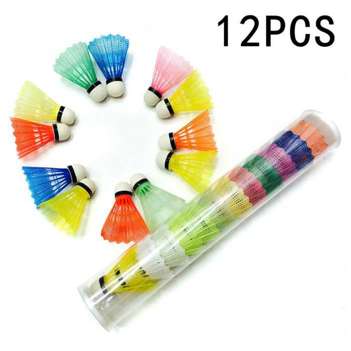 Volants Standard badminton boule pour Sport Entraînement Compétition 12pcs Couleur multicolore