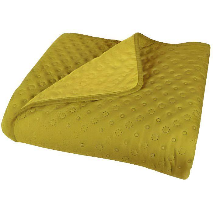 Couvre lit boutis Candice Vent du sud - Couleur: Couvre lit boutis Candice Anis-Anis$Vert - Taille de couvre lit boutis: 170 x 240