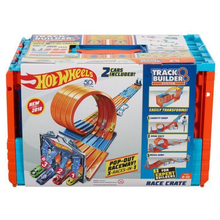CIRCUIT Hot Wheels Track Builder Caisse de course