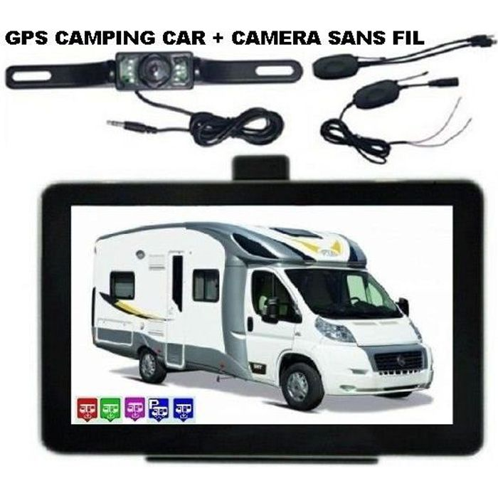 gps avec camera de recul pour camping car achat vente gps avec camera de recul pour camping. Black Bedroom Furniture Sets. Home Design Ideas