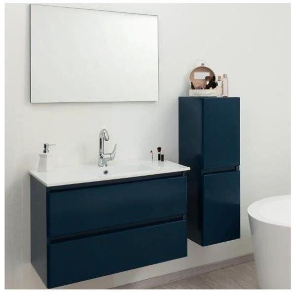 Ensemble de salle de bain bleu pétrole 60cm - Achat / Vente ...