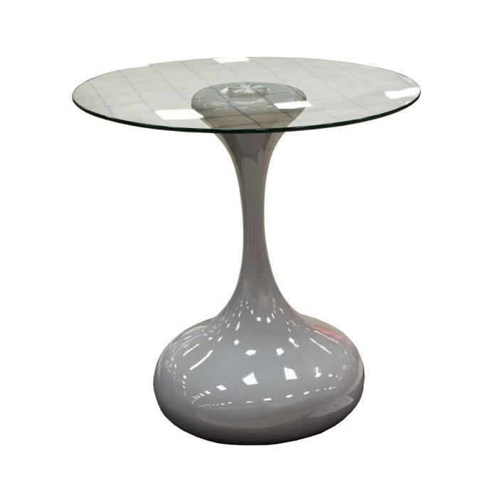 Table basse laqu e grise design achat vente table - Table basse grise design ...