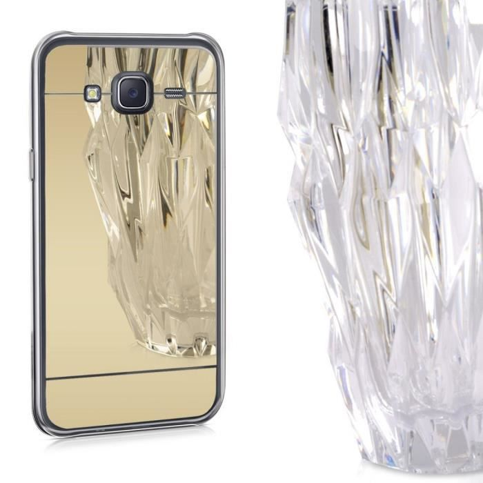 Coque gel galaxy grand prime miroir reflet or dore gold for Grand miroir dore pas cher