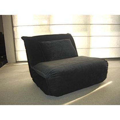 fauteuil convertible microfibre charly anthracite achat vente chauffeuse cdiscount. Black Bedroom Furniture Sets. Home Design Ideas