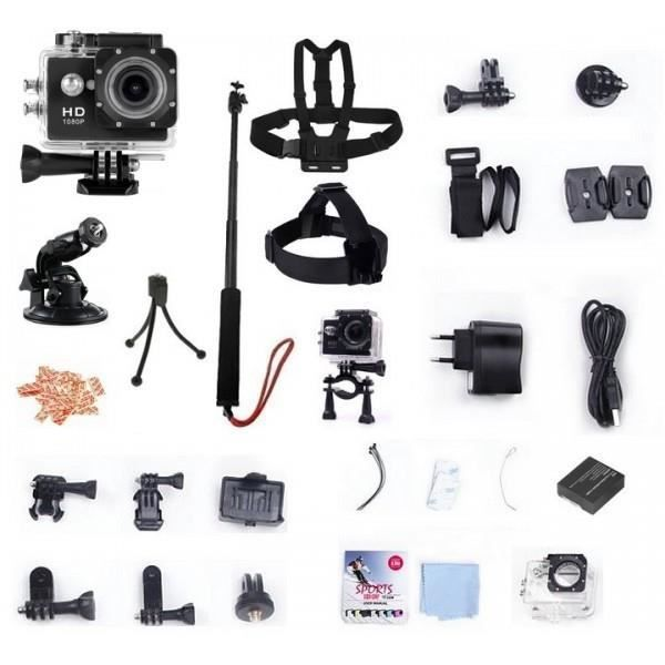 winup pack cam ra sport hd etanche type gopro cam ra embarqu e sportive pour casque mini. Black Bedroom Furniture Sets. Home Design Ideas