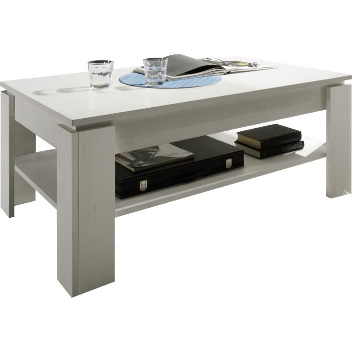Table basse design coloris blanc achat vente table basse table basse desi - Table basse design discount ...