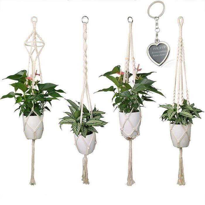 Pot De Fleurs Suspension balcon plante de jardin métal plante décoration maison pratique G