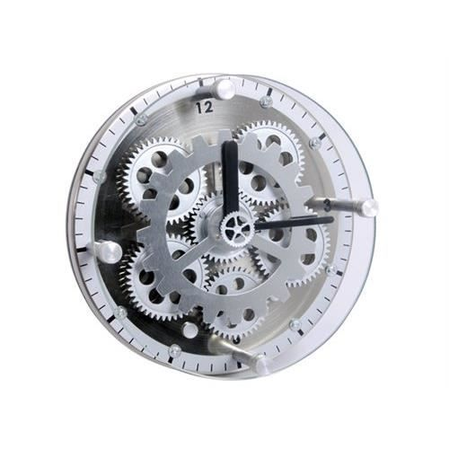horloge de table avec engrenage visible diam 1 achat vente horloge nickel cdiscount. Black Bedroom Furniture Sets. Home Design Ideas