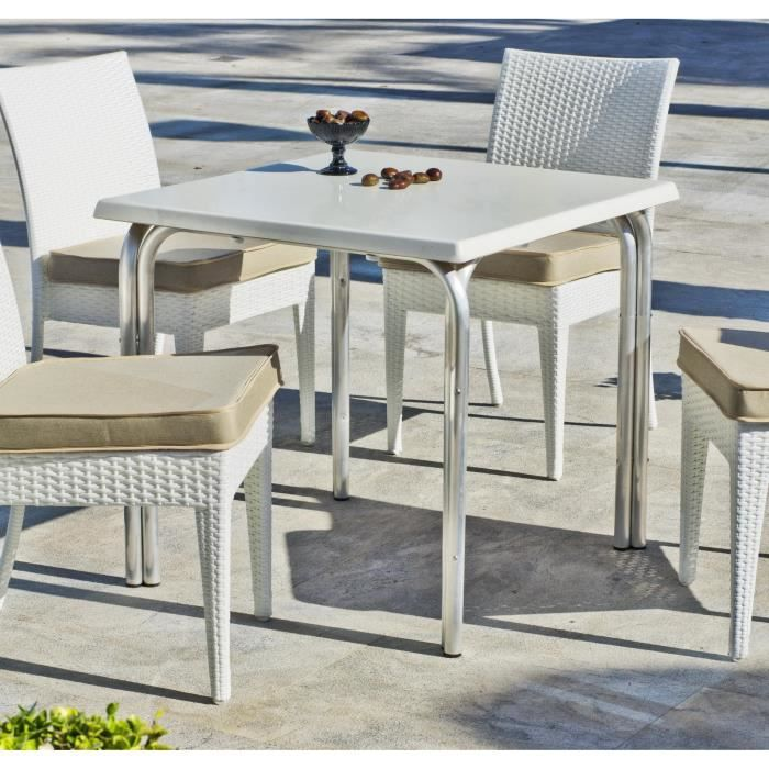 hevea table de jardin type bistrot 80x80cm achat vente table de jardin hevea table de. Black Bedroom Furniture Sets. Home Design Ideas