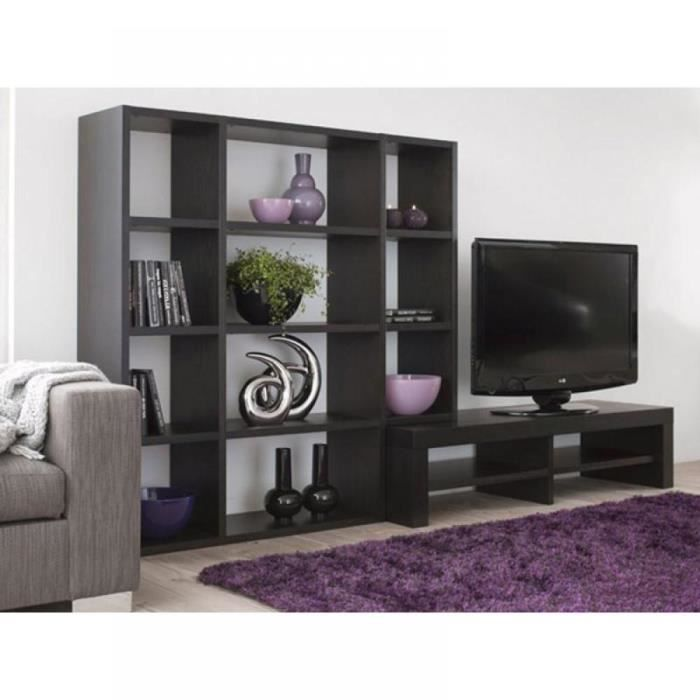 bombay biliotheque meuble tv t l design bois ch achat. Black Bedroom Furniture Sets. Home Design Ideas