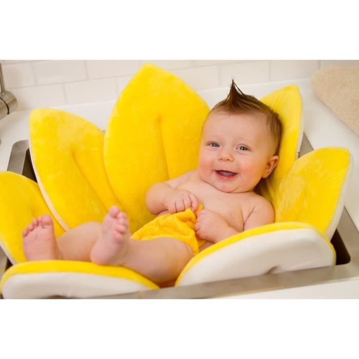 fleur de bain transat baignoire pour bebe jaune achat. Black Bedroom Furniture Sets. Home Design Ideas