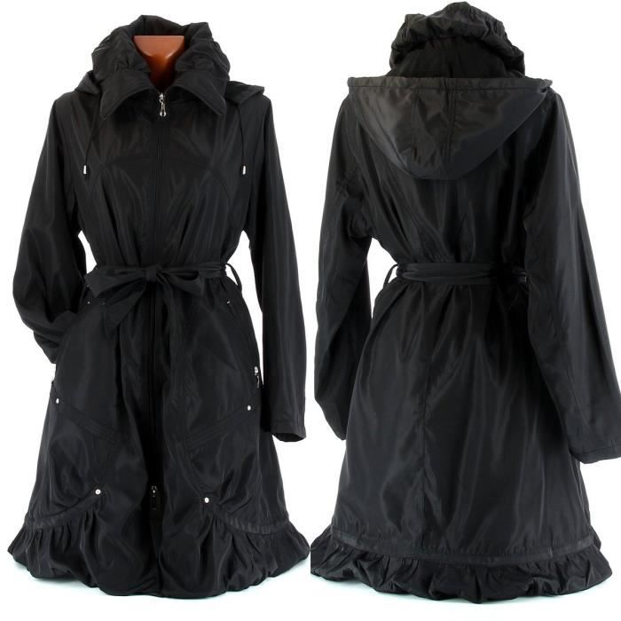 manteau parka trench doudoune isabella femme noir achat vente manteau caban manteau. Black Bedroom Furniture Sets. Home Design Ideas