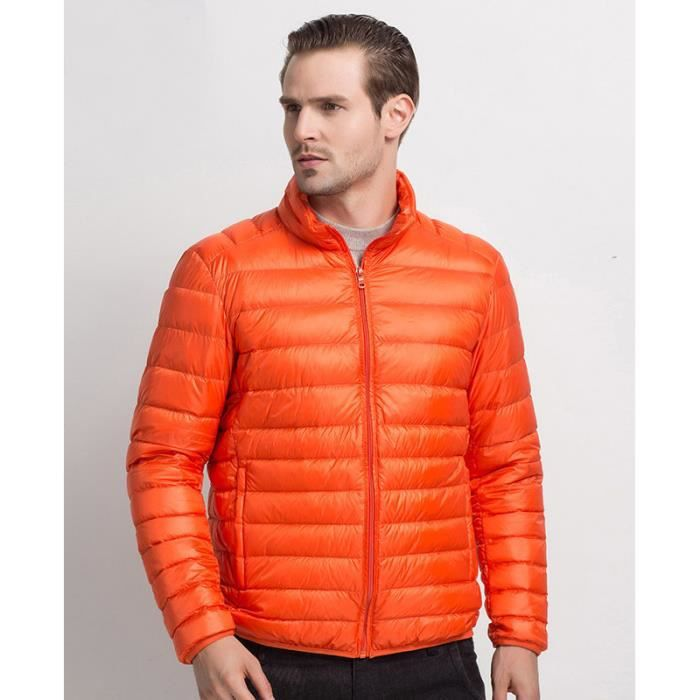doudoune l g re homme veste blouson homme 12 couleurs 2016 orange achat vente blouson. Black Bedroom Furniture Sets. Home Design Ideas