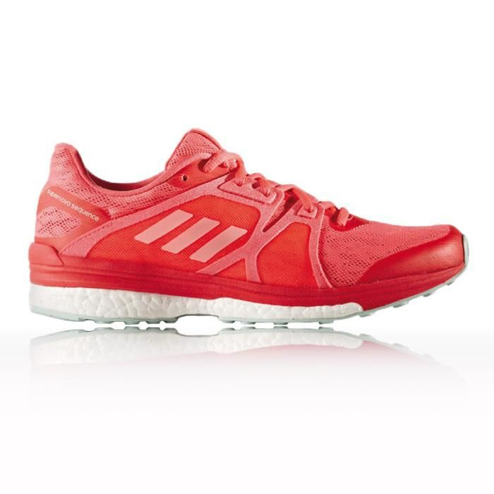 newest 45157 be47a Adidas Supernova Sequence 9 Femme Chaussures De Course À Pied Rouge