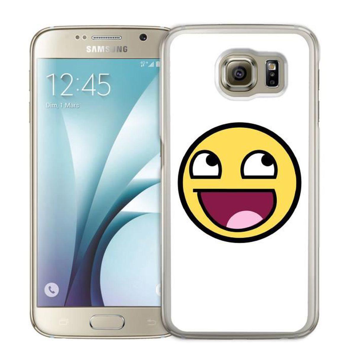 Coque Samsung Galaxy S4 Mini : Smiley - Cdiscount Téléphonie