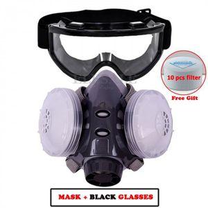 LUNETTE - VISIÈRE CHANTIER Version Avec Noir Glasses -  Masque Anti-Poussière