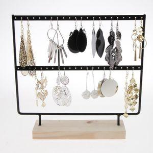 organisateur de collier de suspension de boucle doreille rotative Affichage des boucles doreilles 144 trous support de pr/ésentoir de bijoux /à quatre couches