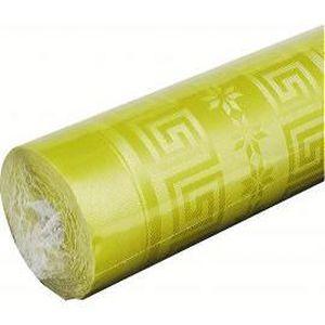 NAPPE DE TABLE JETABLE Nappe papier damassé Vert Anis 5x1,20m