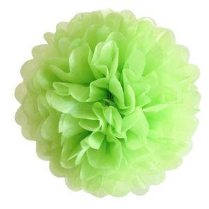 OBJET DÉCORATIF 3 boules de papier soie vert anis de 3 tailles