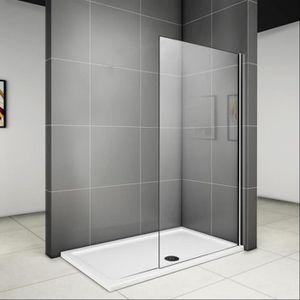 PORTE DE DOUCHE 50x200cm Paroi de douche, paroi fixe, transparent,