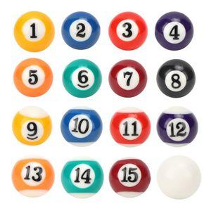 Boule de Billard 32MM r/ésine Polyester /écologique 15Pcs Boules num/érot/ées et 1Pcs Boule Blanche pour Jeux de Loisirs Sportifs Mini Boule de Billard 16PCS 32MM