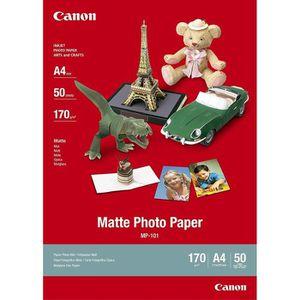 CARTOUCHE IMPRIMANTE CANON Papier Photo Mat  MP-101 - 170 gr - 50 feuil