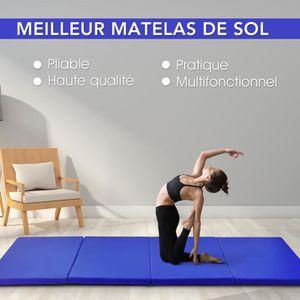 TAPIS DE SOL FITNESS COSTWAY Tapis de Gymnastique Pliable 240x120x5CM B