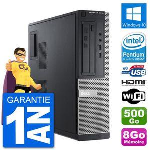 UNITÉ CENTRALE  PC Dell 3010 DT G2020 RAM 8Go Disque Dur 500Go HDM