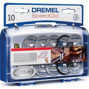 ACCESSOIRE MACHINE DREMEL 10 disques à tronçonner+ adapt EZ Speedclic