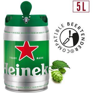 BIÈRE Heineken Bière blonde - Fût 5L compatible Beertend