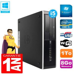 ORDI BUREAU RECONDITIONNÉ PC HP Compaq Pro 6300 SFF I5-3470 RAM 8Go Disque 1