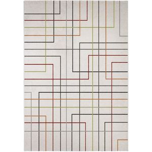TAPIS MADRID Tapis style contemporain 200X290 cm Blanc