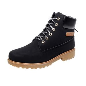 BOTTINE Mode Homme Bottine Martine Boots en Cuir PU Bru...