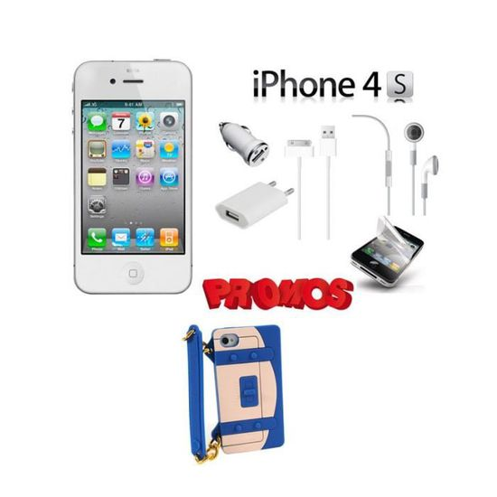 IPHONE 4S 16GO BLANC PACK 1 COQUE SAC A MAIN COLOR MIXTE ...