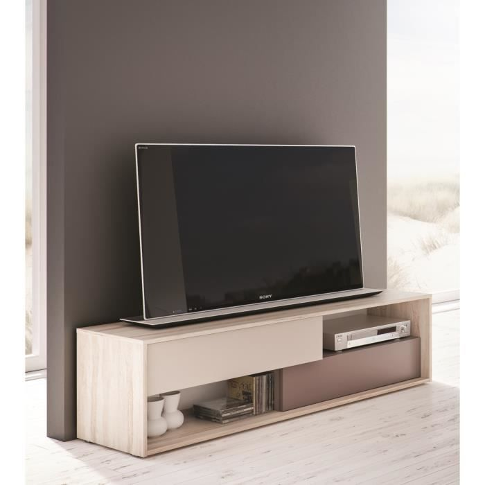 nova meuble tv 156 cm bouleau gris achat vente meuble tv nova meuble tv 156 cm bois. Black Bedroom Furniture Sets. Home Design Ideas