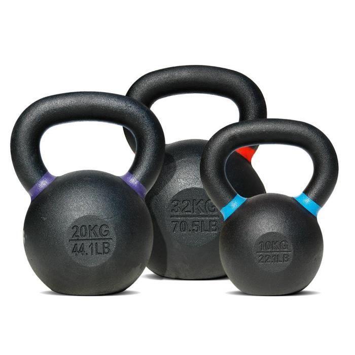 Kettlebells avec revêtement en poudre Body-Solid 4 kg - gris/noir - TU