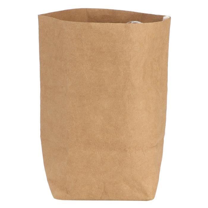 Garosa sac recyclable Sac de rangement multifonctionnel Sac de papier brun recyclable épais lavable avec grande capacité (M)