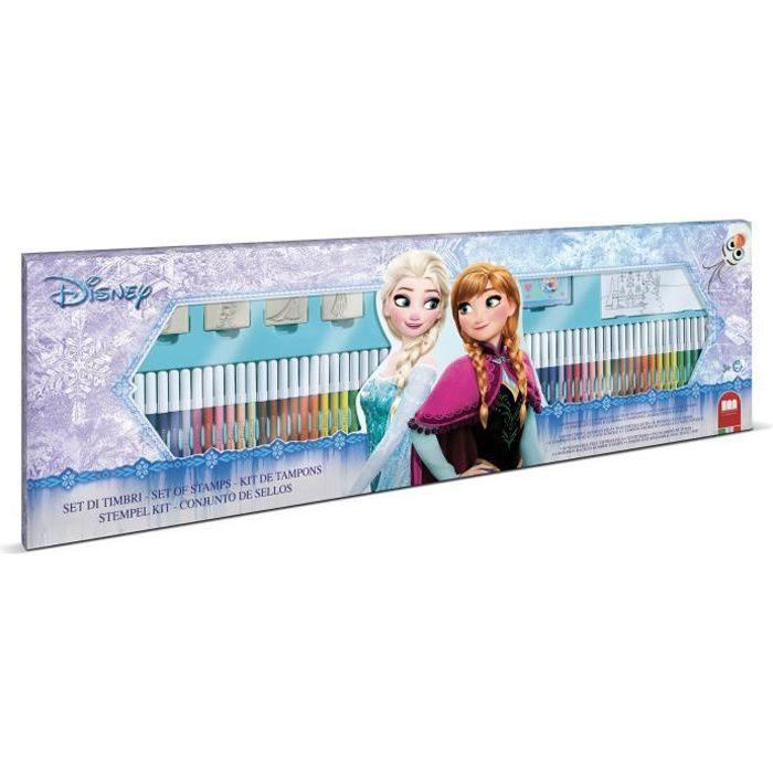 MULTIPRINT Coffret Frozen - 4 tampons et 60 feutres Giotto