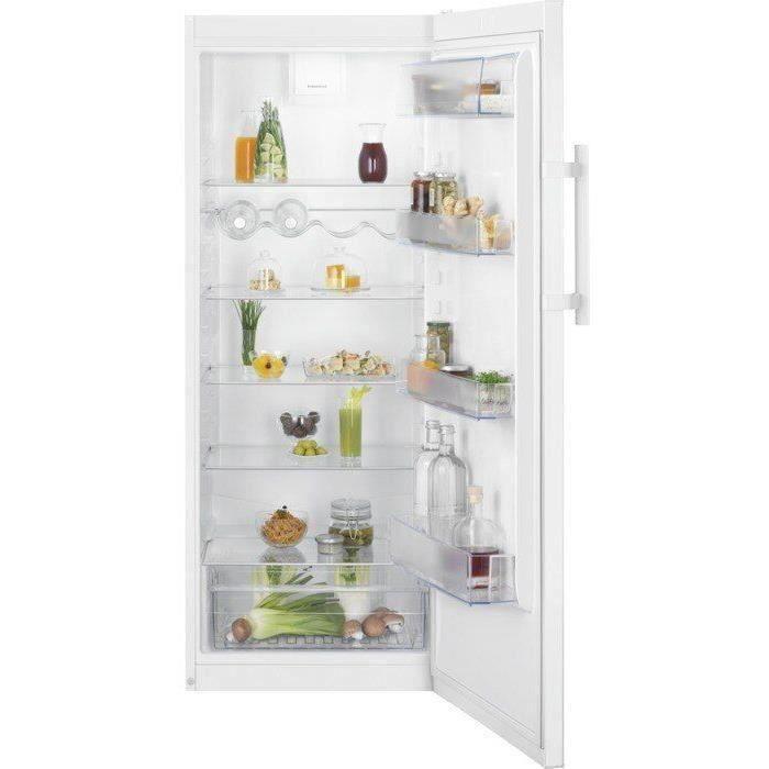 ELECTROLUX LRB1DF32W - Réfrigérateur 1 porte - 314L - Froid brassé - A+ - L60cm x H 155cm - Blanc