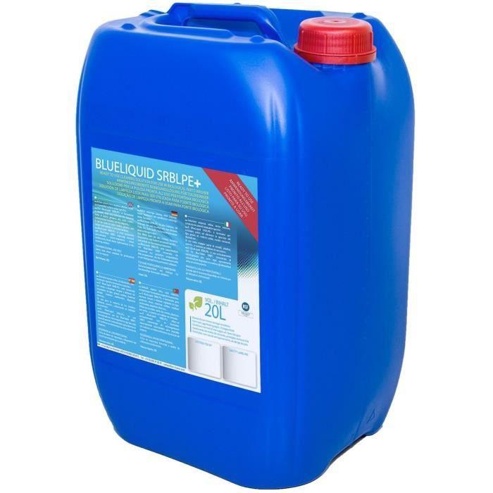Bidon de 20 litres de solution de nettoyage aqueuse pour fontaine biologique, non-toxique et ininflammable