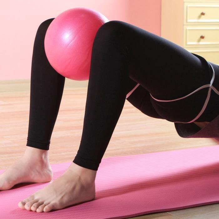 Ballon de yoga rose de petite taille pour formation de Balance l'exercice à la maison 25cm