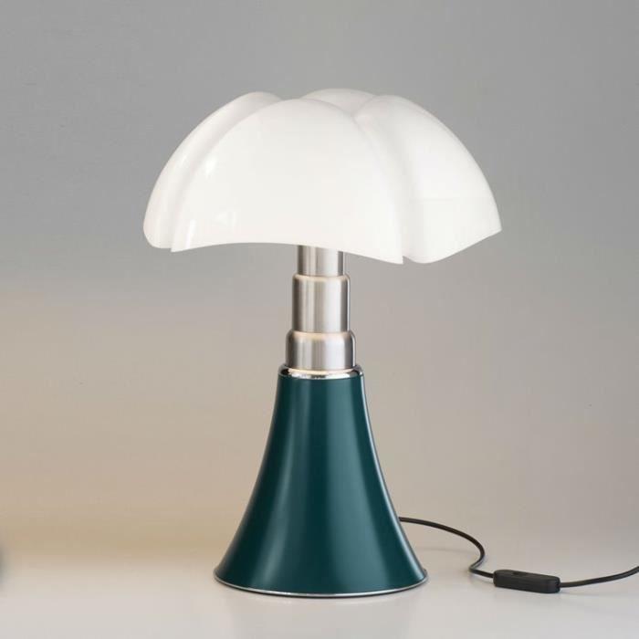 MINI PIPISTRELLO-Lampe LED H35cm Vert Agave Martinelli Luce - designé par Gae Aulenti H 35cm / Ø 27cm / Ø socle 16cm