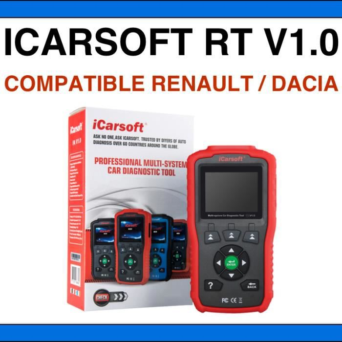 VALISE DIAGNOSTIC ICARSOFT RT V1.0 - Compatible Renault & Dacia - Français