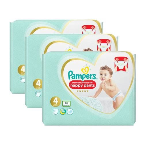 Pampers - 304 couches bébé Taille 4 premium protection pants