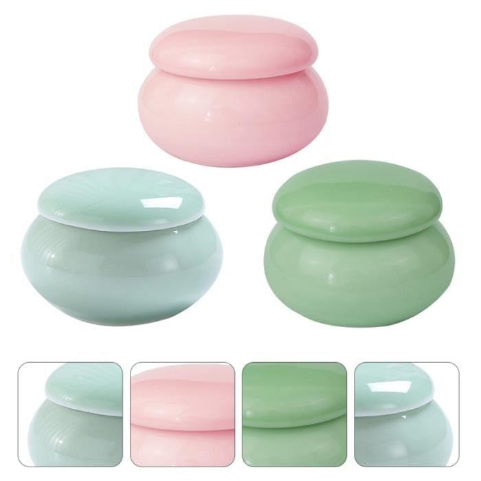 3pcs céramique cosmétiques jar pot de stockage bonbons acidules confiserie chocolat