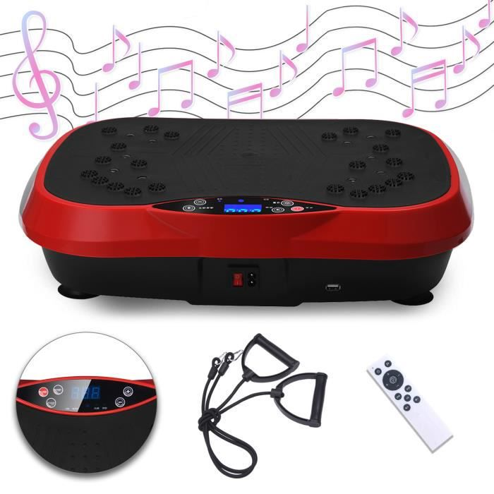 SINBIDE® Fitness Plateforme Vibrante et Oscillante Ultra Slim - Perte de poids & Brûleur de Graisses à la Maison - Bluetooth